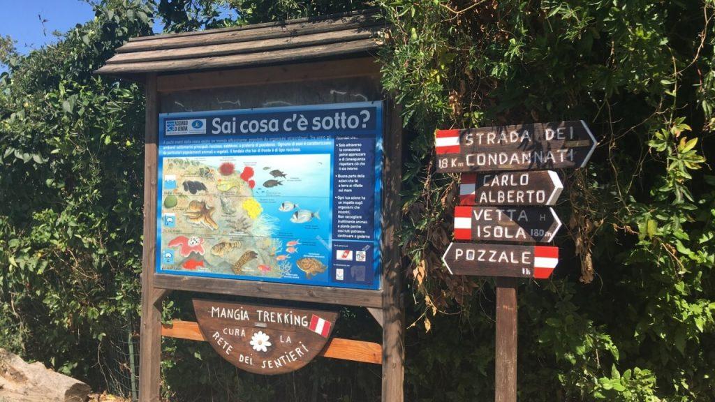 I cartelli dell'Isola Palmaria