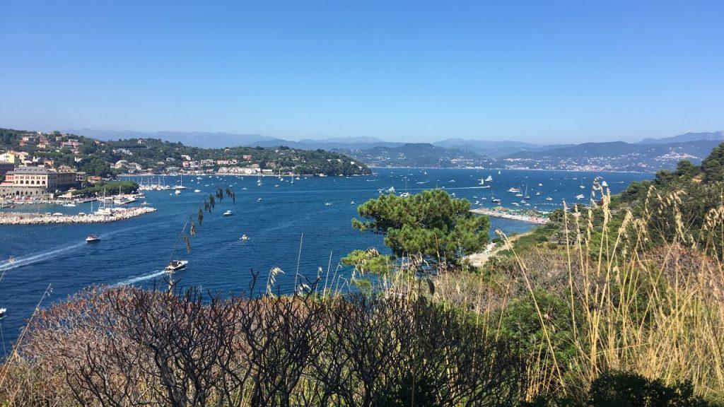 Le Bocche e sullo sfondo il Golfo di La Spezia